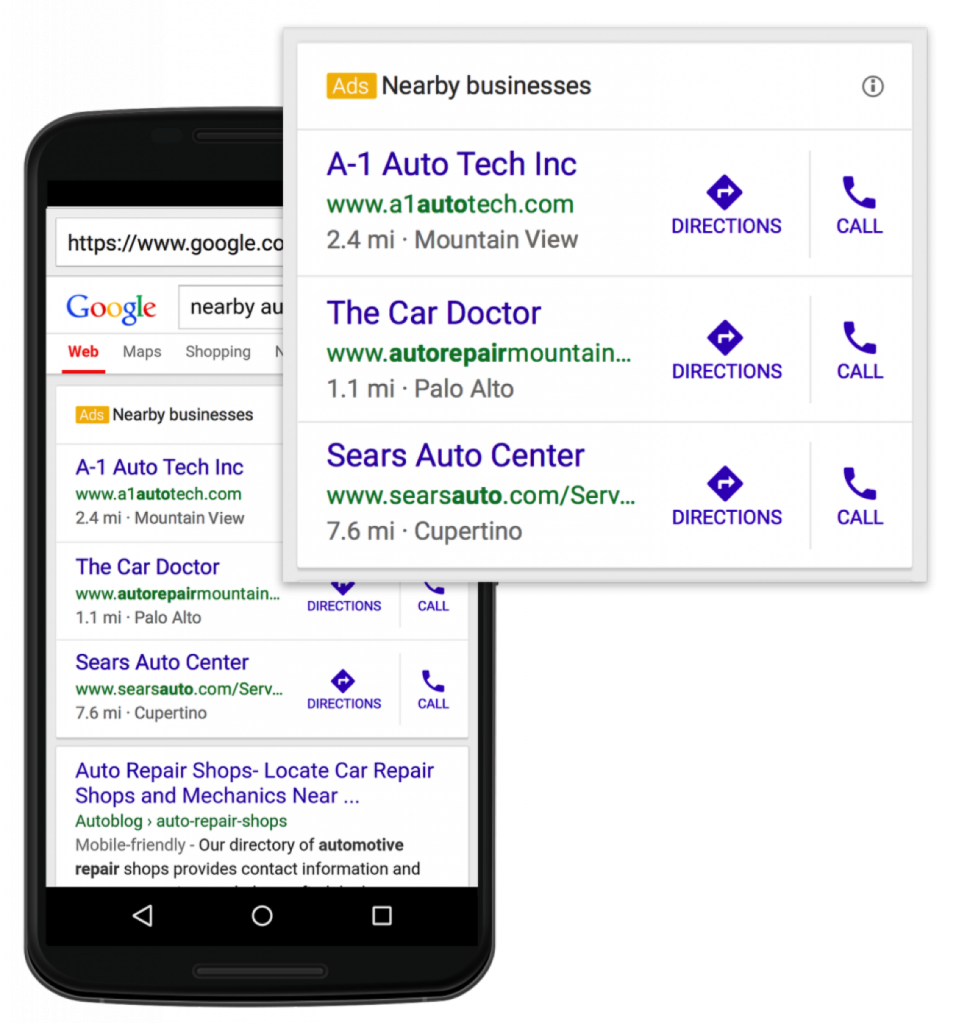 google adwords local extensions