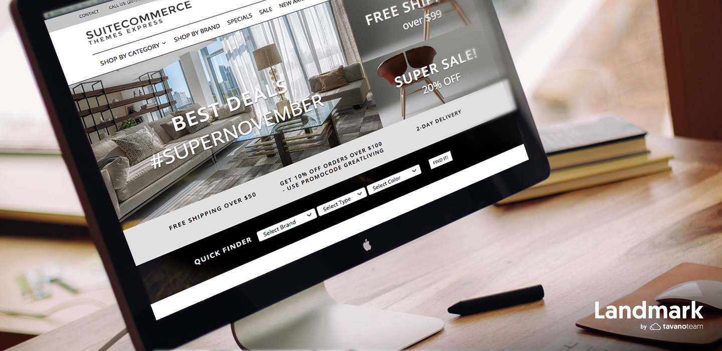 The most powerful B2B theme for SuiteCommerce