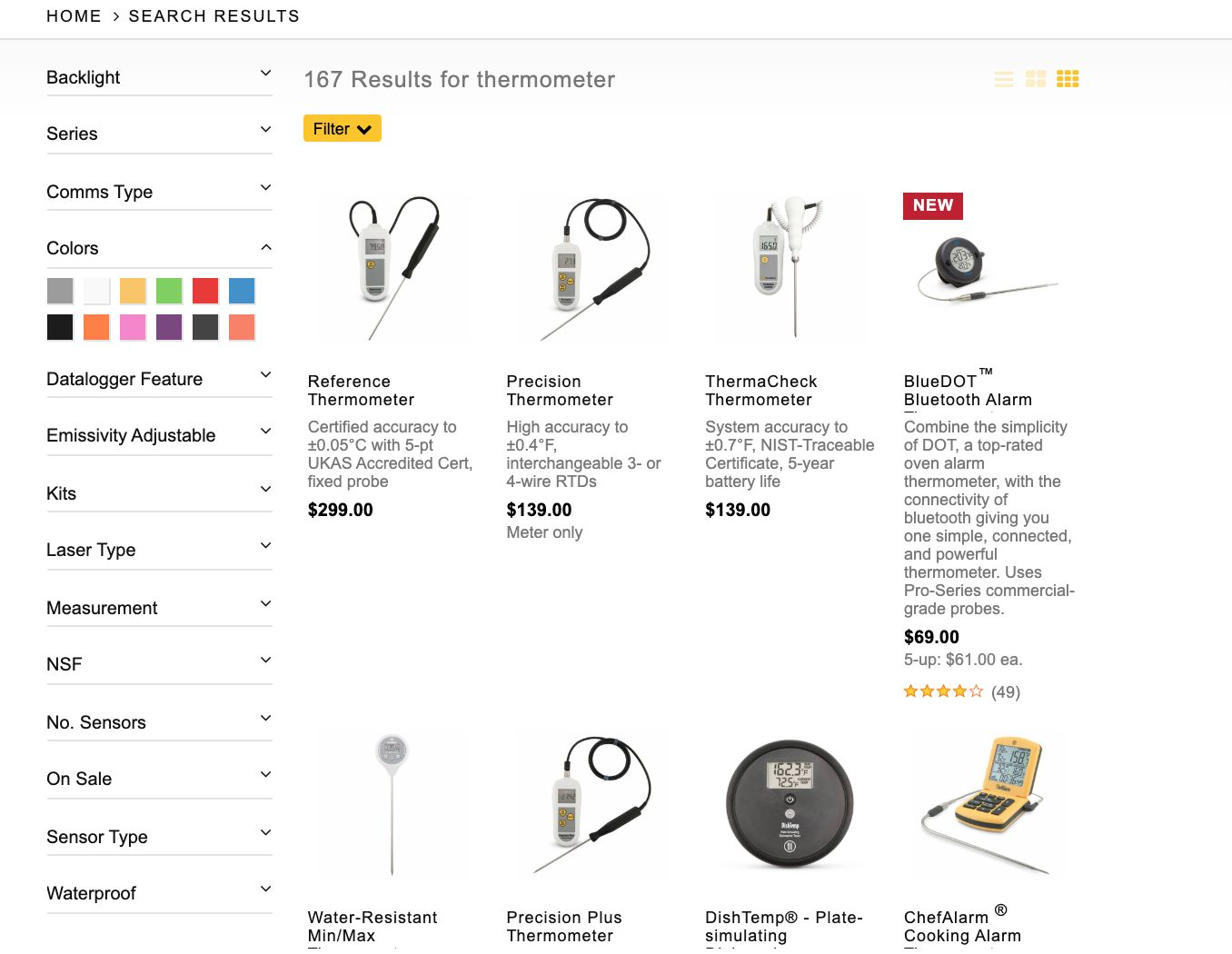 top suitecommerce merchandising features filtered search