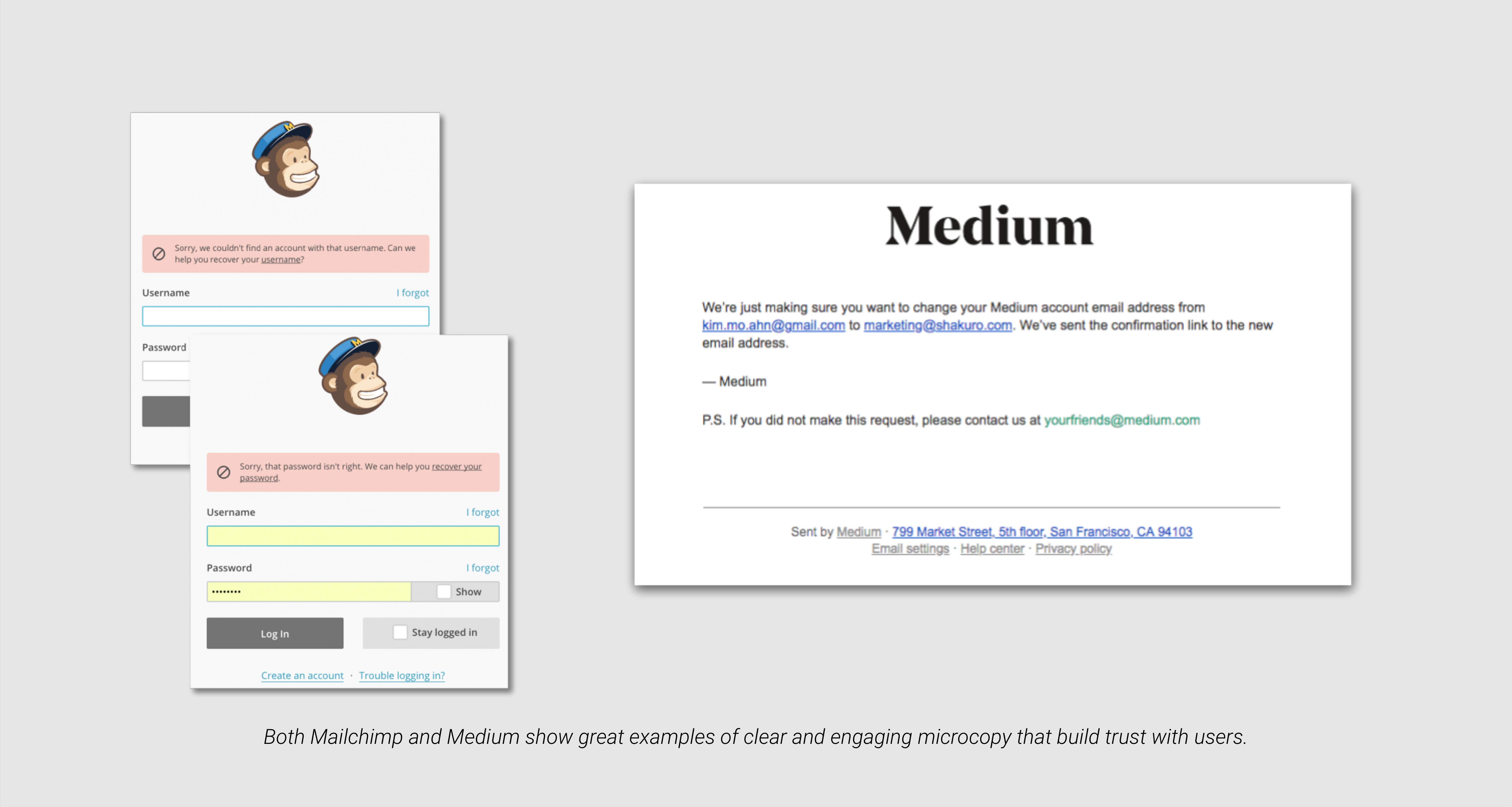 microcopy mailchimp medium example tavano team